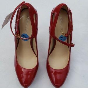 Nine west red heels women's size 7.5